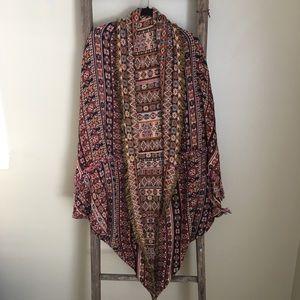Freepeople southwestern print kimono